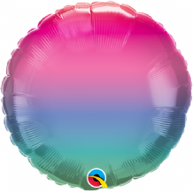 "Jewel Ombre Foil Balloon (18"" Round) 1pc"